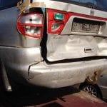 krasjet bil bakfra